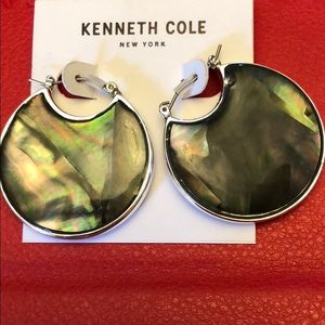 Kenneth Cole reversible silver hoops NEW avalone